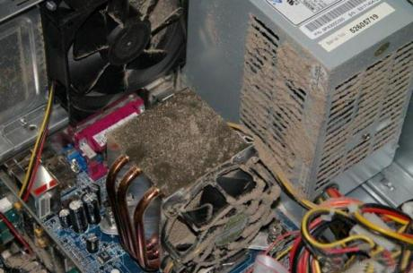 Computer Dust Buildup